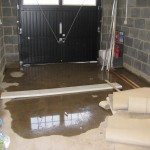 Flooding in garage
